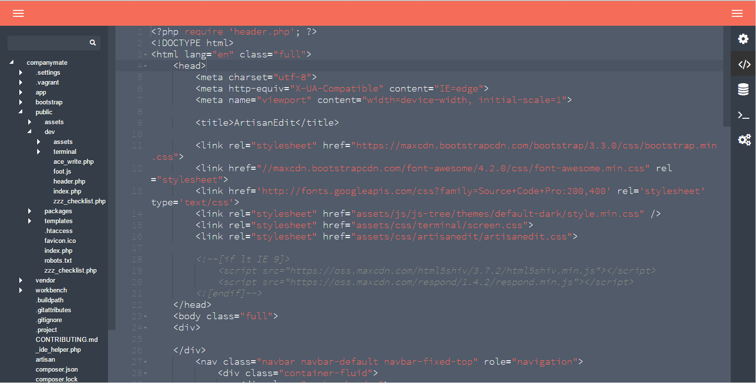 Package] LaraEdit: IDE Package for Laravel 4 Complete with a