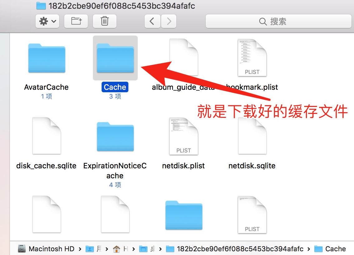 0216-百度网盘在iTunes中子文件夹Cache.png