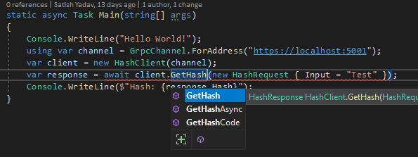 Client Sync And Async Get Hash