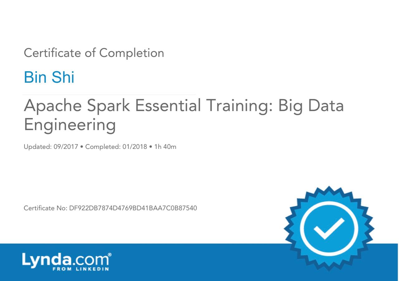 ApacheSparkEssentialTraining