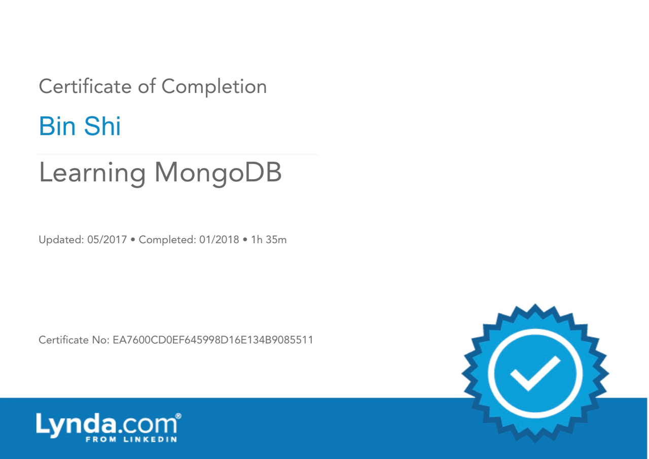 LearningMongoDB