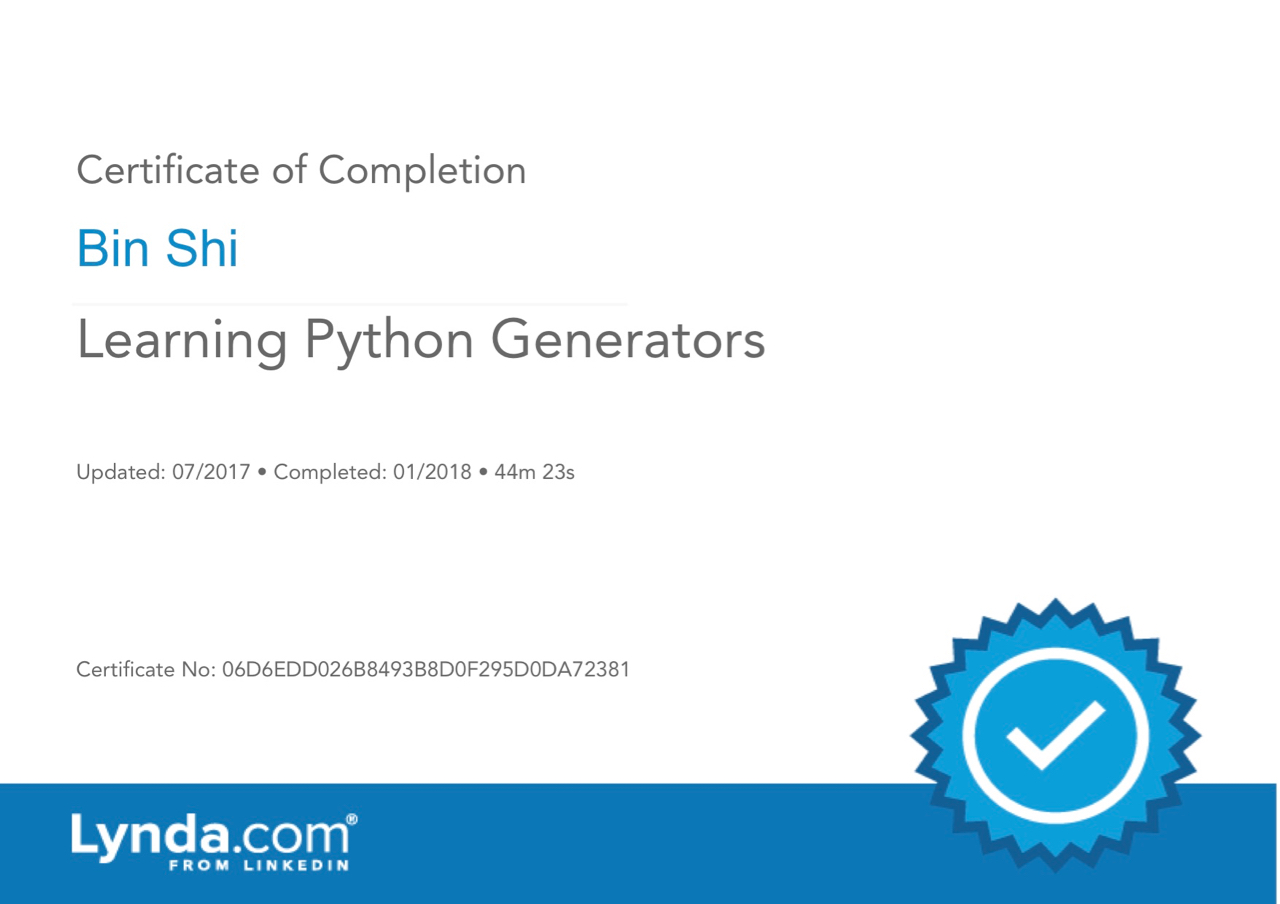 LearningPythonGenerators