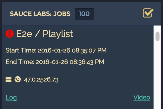 SauceLabs Jobs