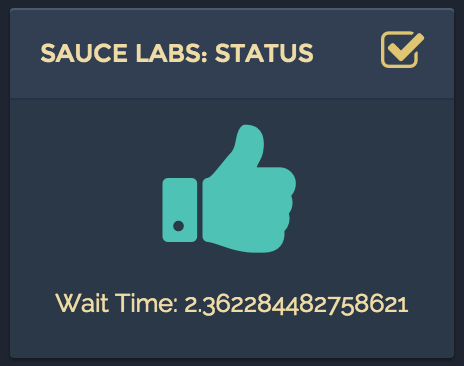 SauceLabs Status