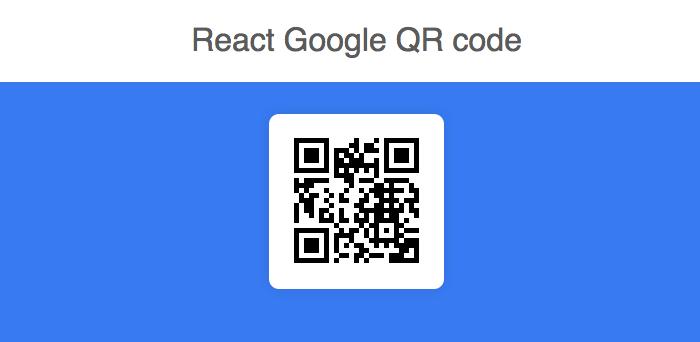 GitHub - iamgutz/react-google-qrcode: React Component to