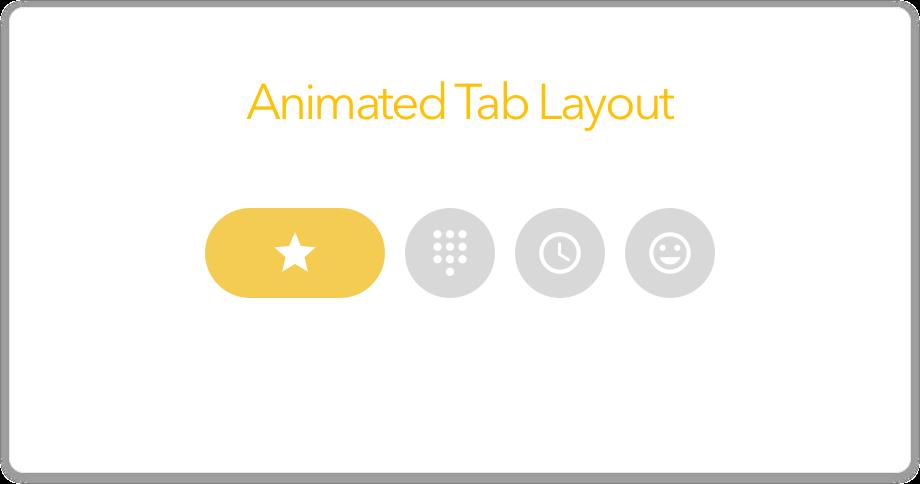 GitHub - iammert/AnimatedTabLayout: Yet another android tab layout