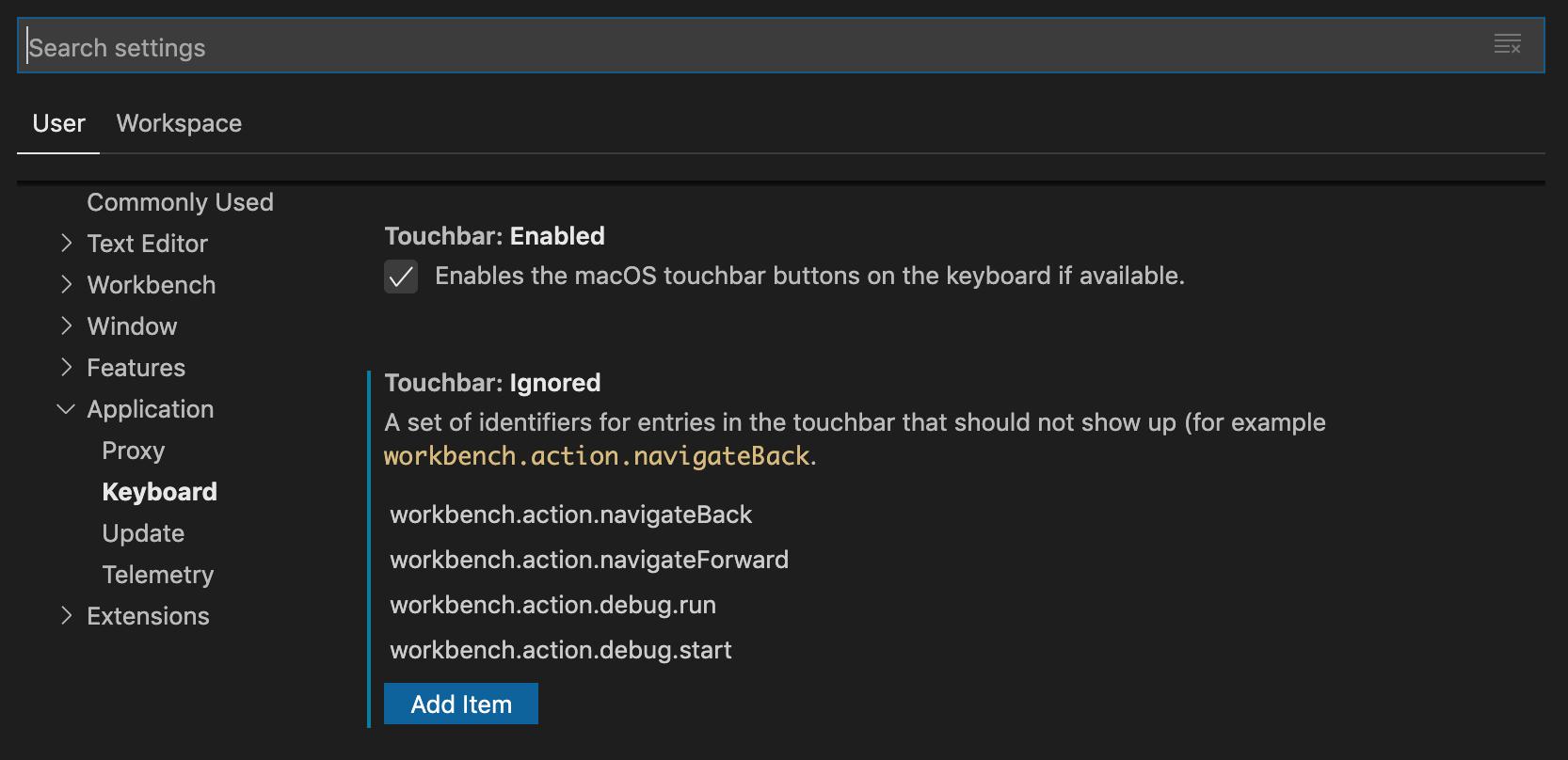 disable-vscode-default-touchbar