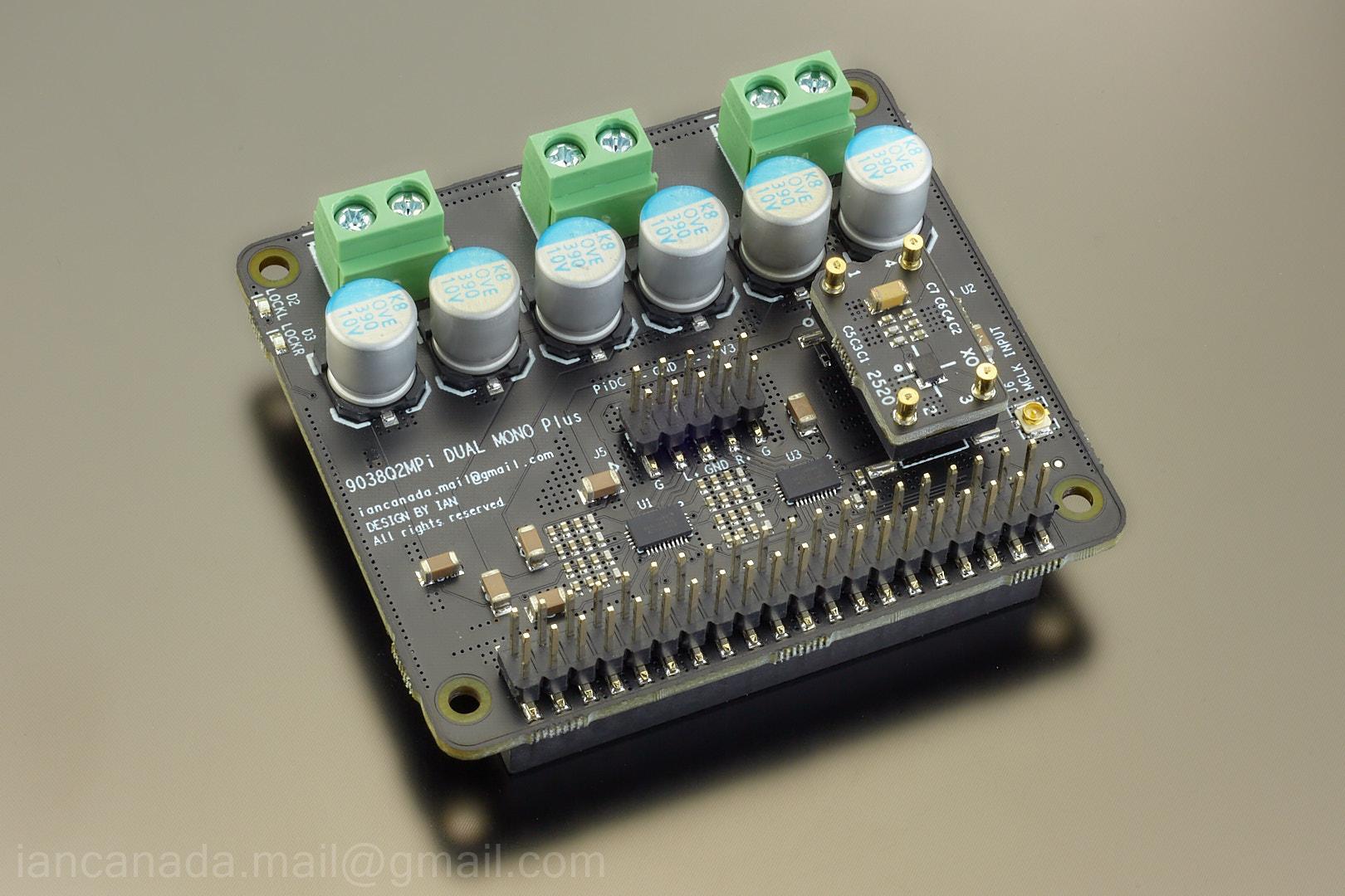 Dual Mono Plus ES9038Q2M DAC HAT