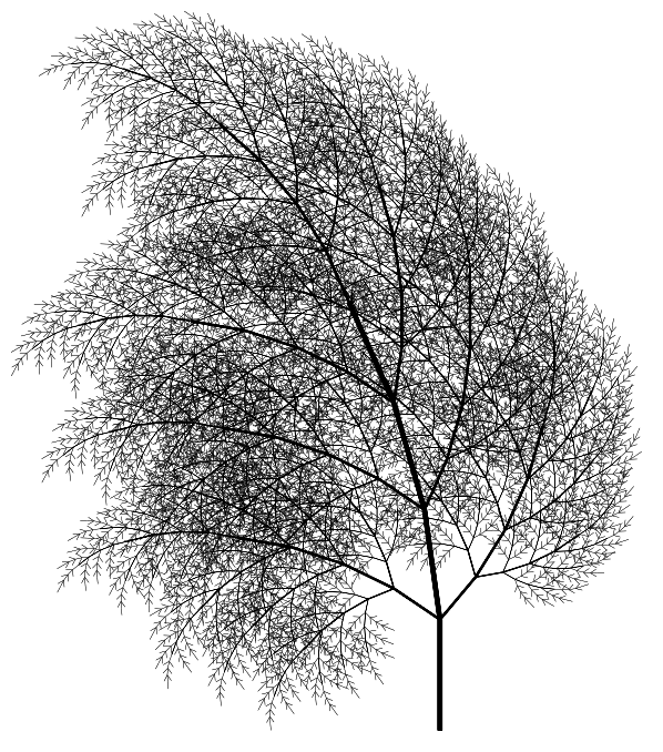 Image of tree-2 fractal