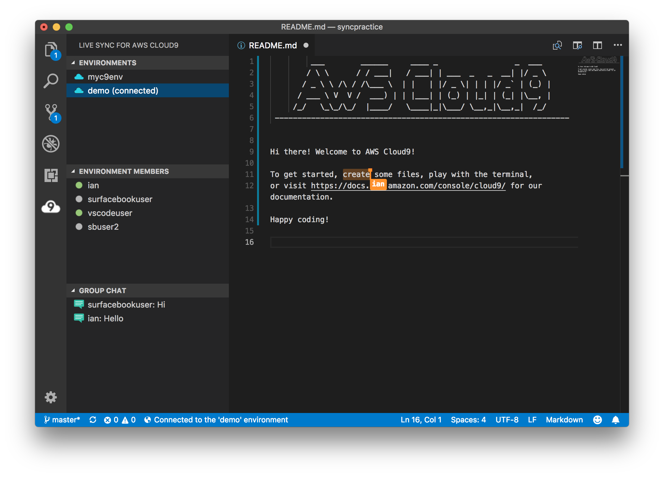 Live Sync for AWS Cloud9
