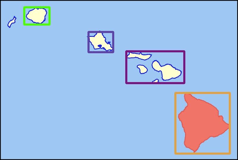 Map island Tensorflow detection