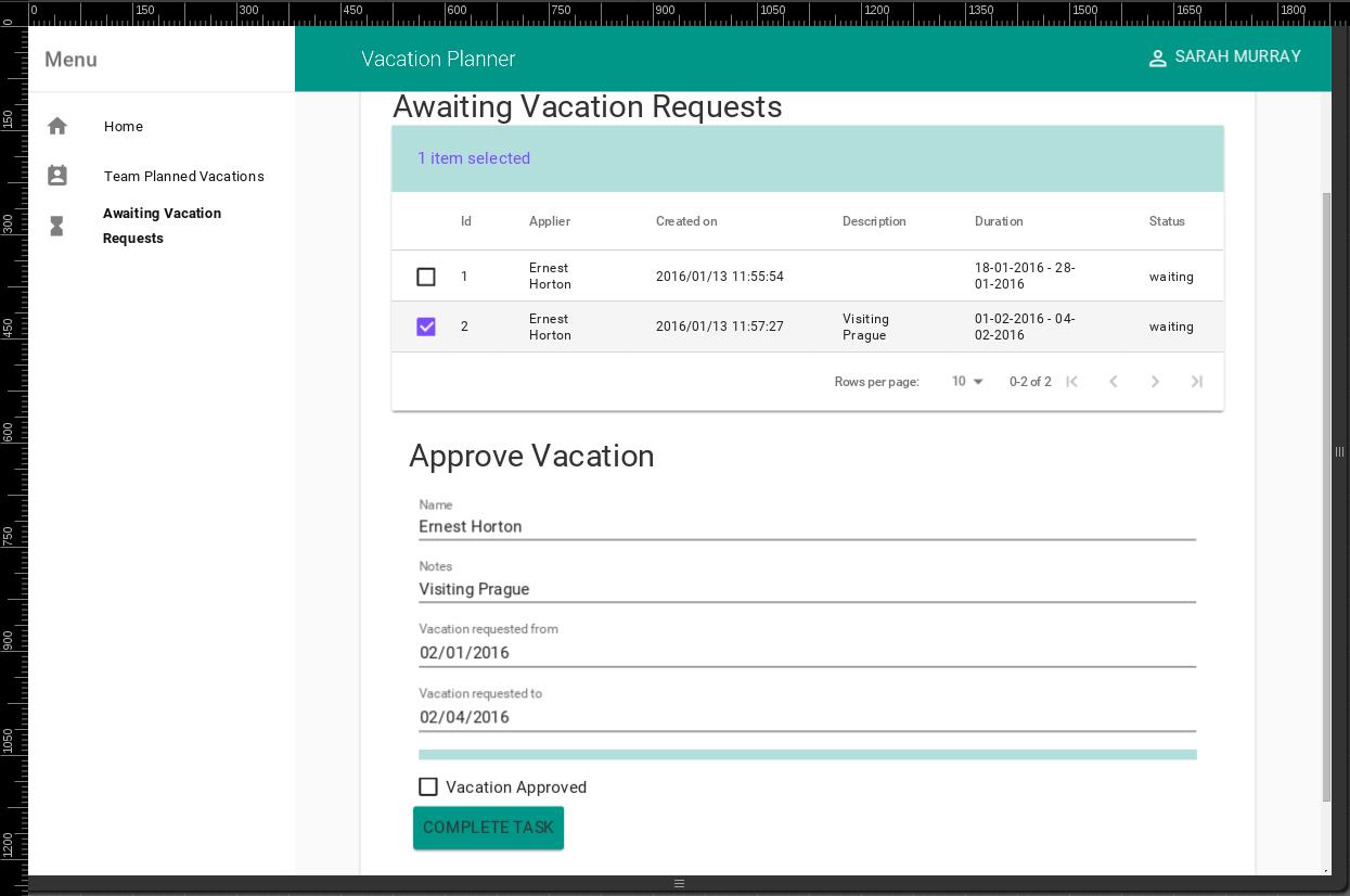 github ibek vacation planner demo application using polymer bpm