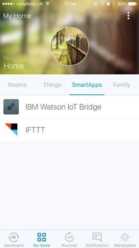 GitHub - ibm-watson-iot/gateway-smartthings: Gateway application to