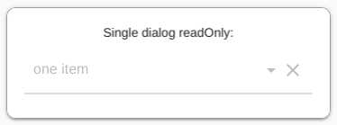 Single dialog readOnly