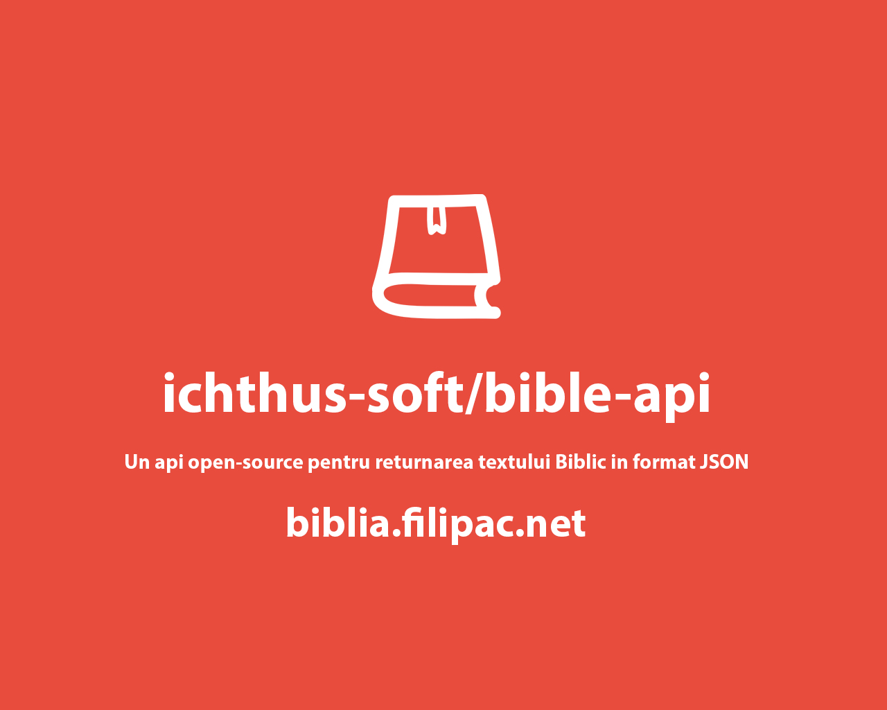 Biblie Api - Biblia in format JSON
