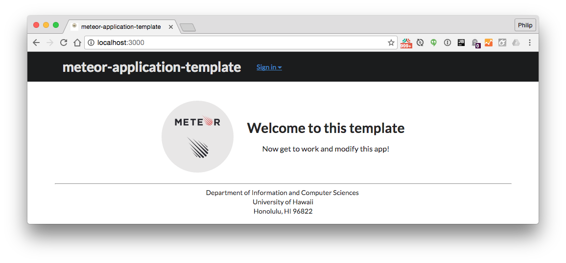 meteor application template a template for quickly starting meteor