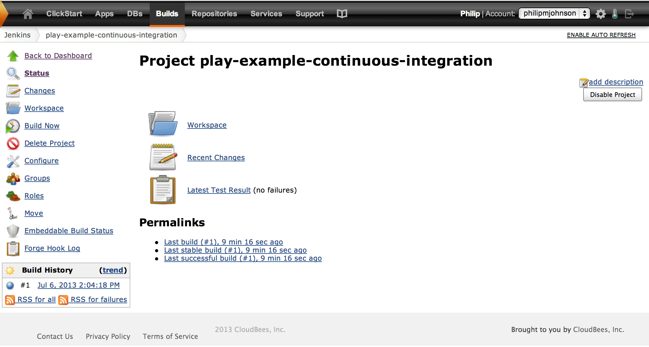 Play-example-continuous-integration