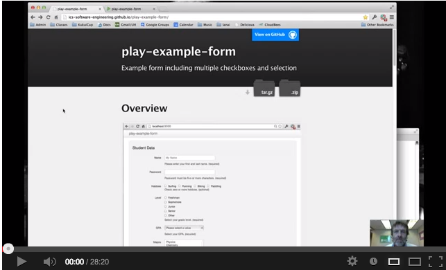 Play Example Form