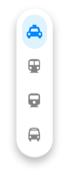 Vertical action bar