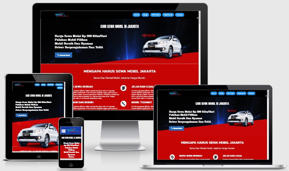 Landing Page Rental Car