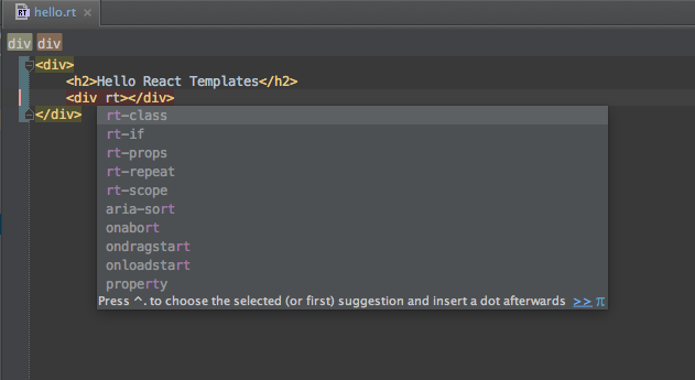 React-Templates inline