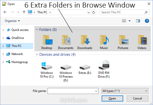 how to get rid of user file windows 10