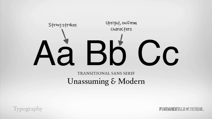 Transitional Sans Serif
