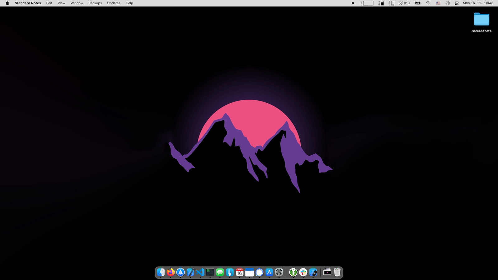 Custom color menu bar in macOS Big Sur