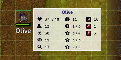 Screenshot showing tooltips for Olive