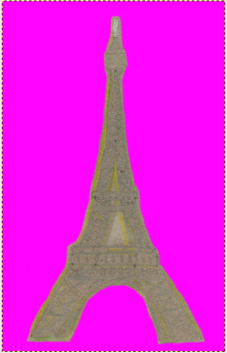 Eiffle Tower cut out