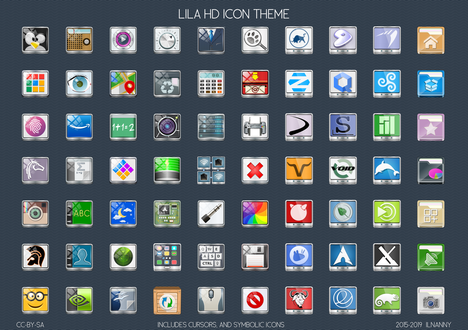 Icon theme for Gnu Linux Operation System