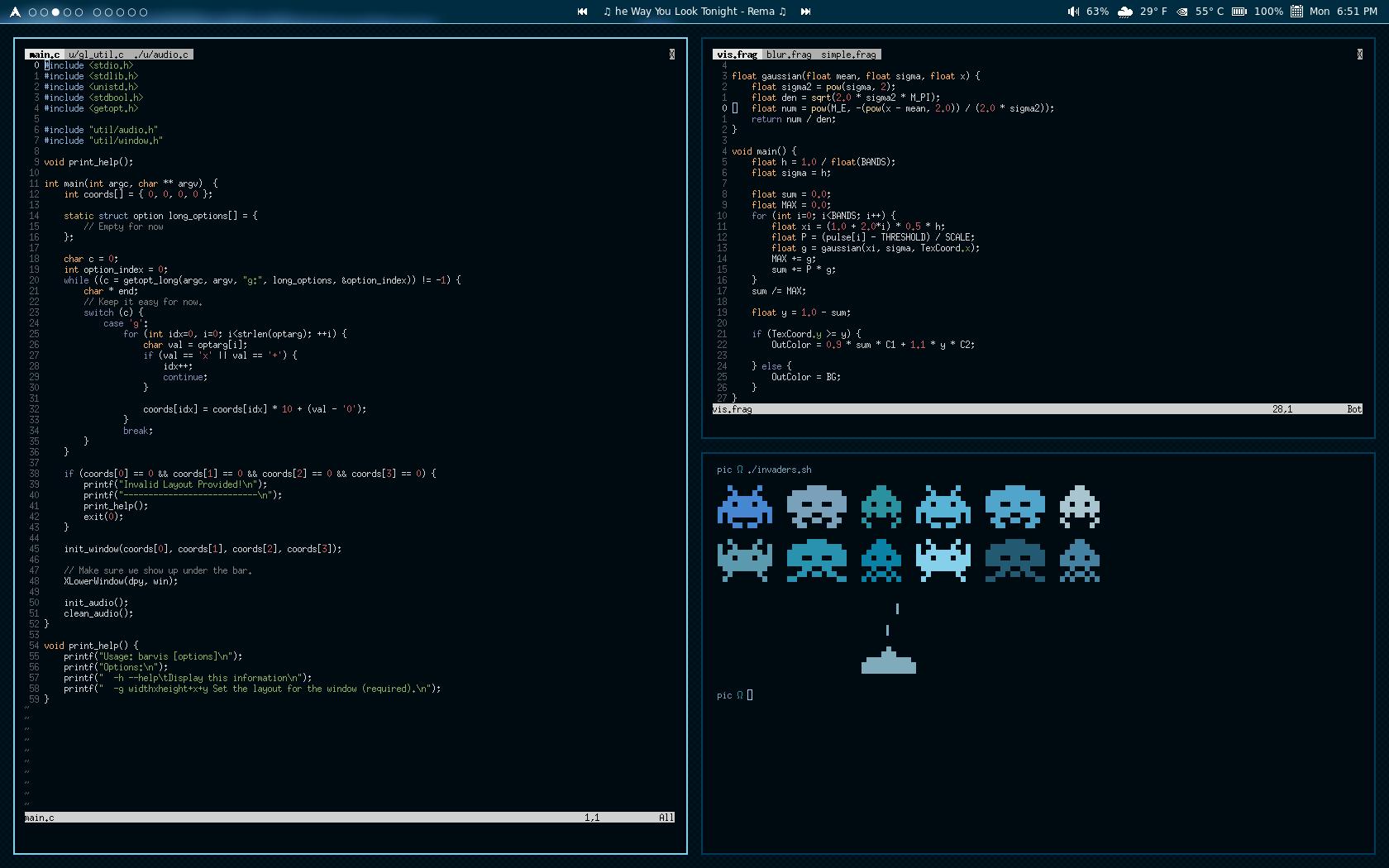 GitHub - imalerich/barvis: OpenGL Visualizer Bar Background