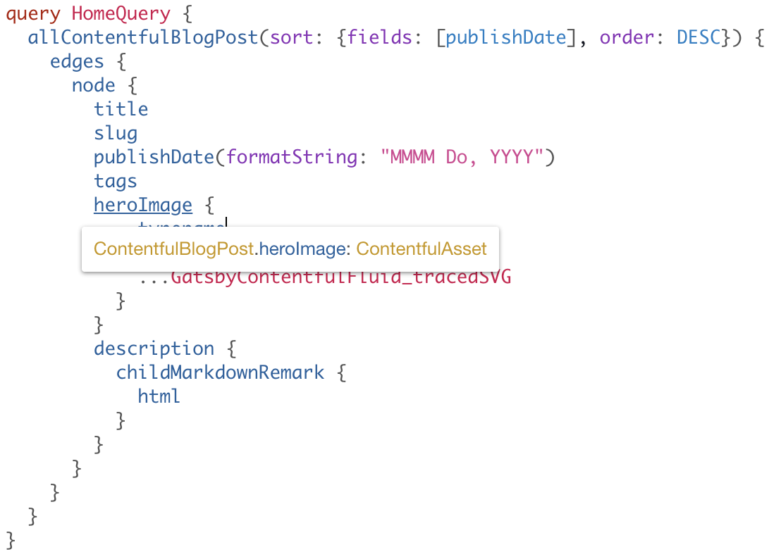 hovering over node type to see node type is ContentfulAsset