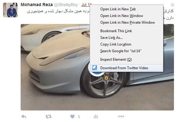 download video from twitter firefox