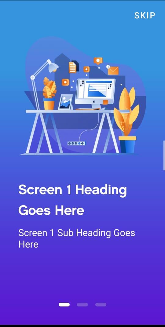 Flutter On Boarding Screen