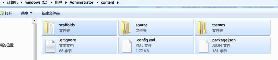 文件夹结构