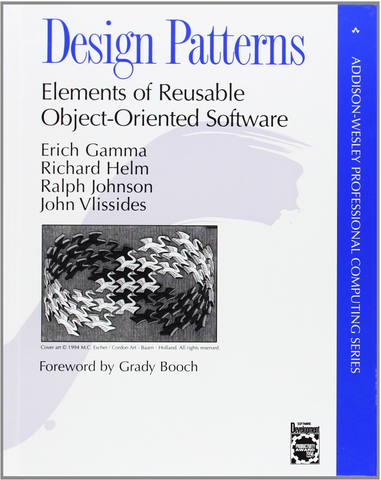http://www.amazon.com/Design-Patterns-Elements-Reusable-Object-Oriented/dp/0201633612/ref=sr_1_1/181-0425776-1567644?ie=UTF8&qid=1418922833&sr=8-1&keywords=design+patterns+gang+of+four