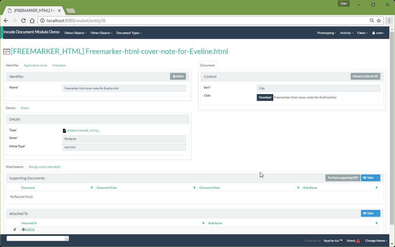 122 createAndAttachDocument Freemarker result