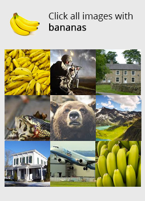 Example of a captcha based on image clicks