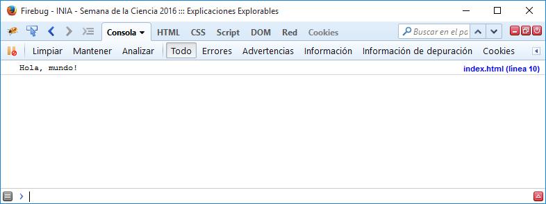 Ejemplo console.log
