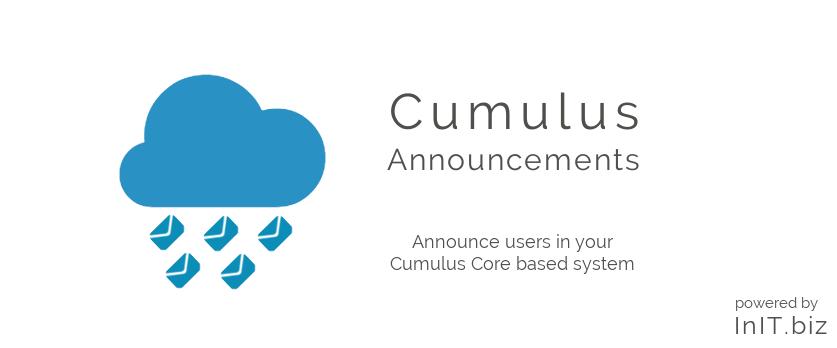 Cumulus Announcements banner