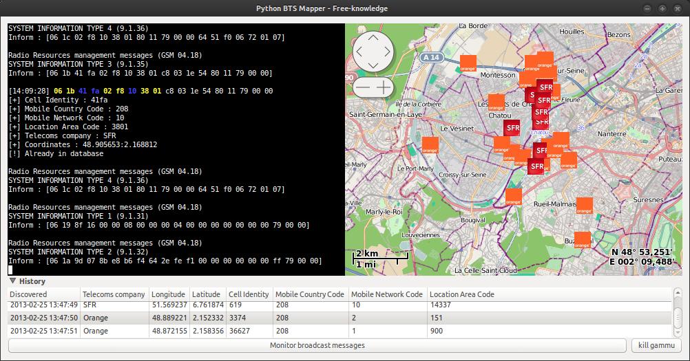 Python BTS Mapper