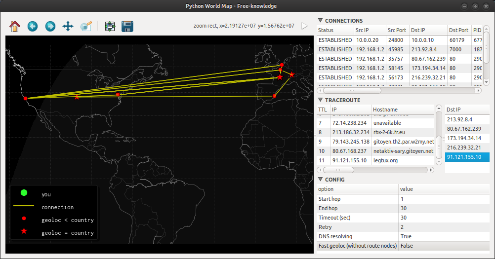 GitHub - initbrain/worldmap: Python World Map - GNU/Linux connection
