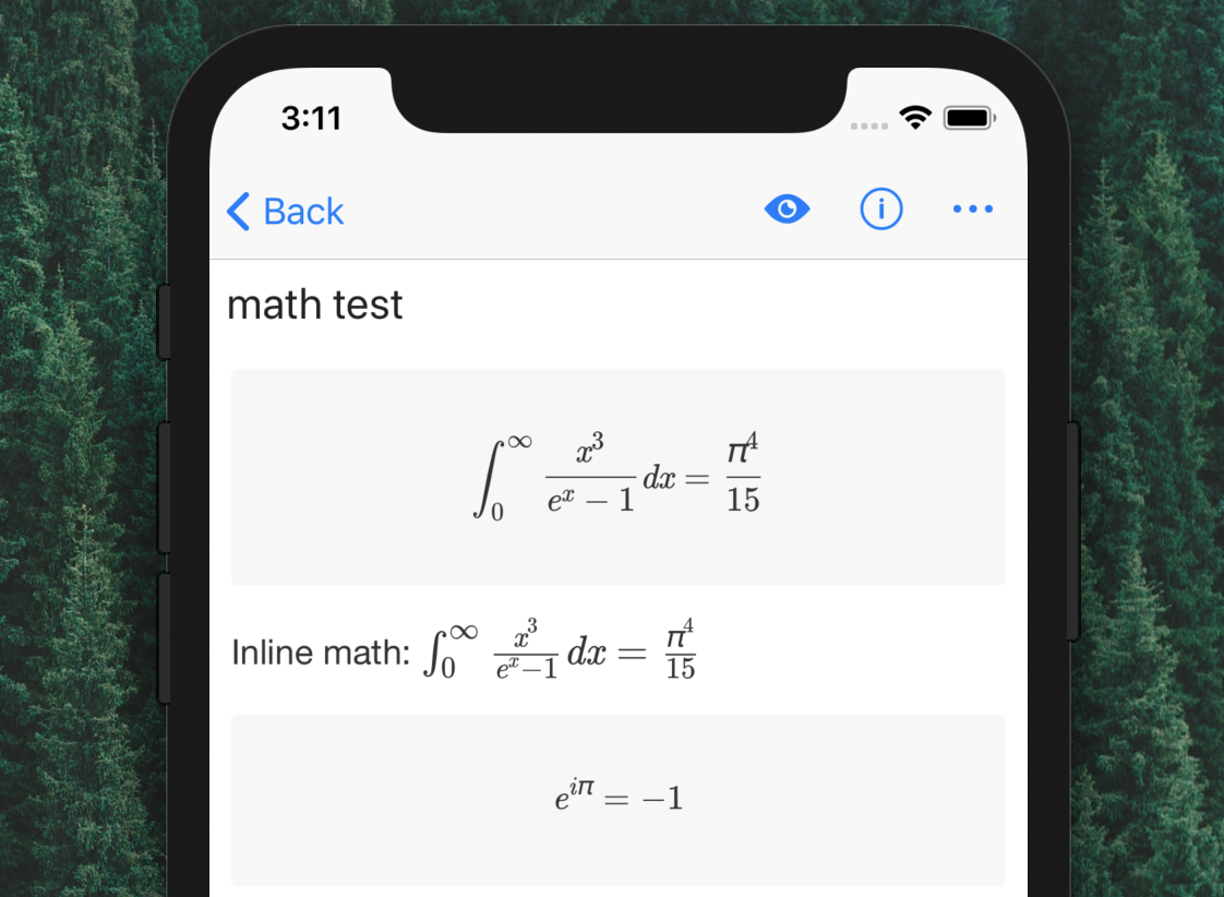 Math support in preview