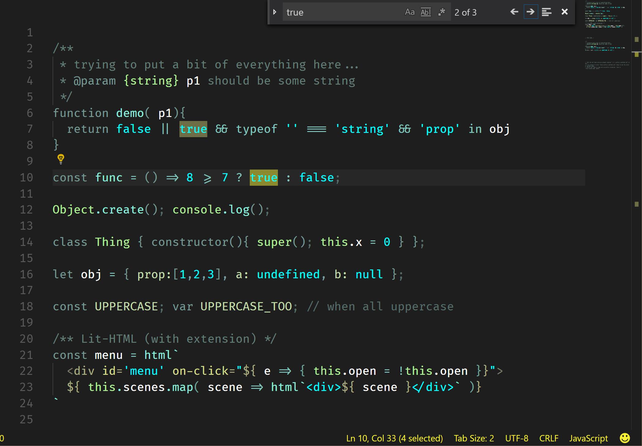 js screenshot