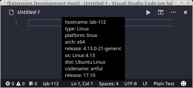 Hostname lab-112 shown