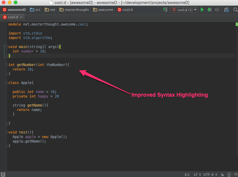 improved highlighting