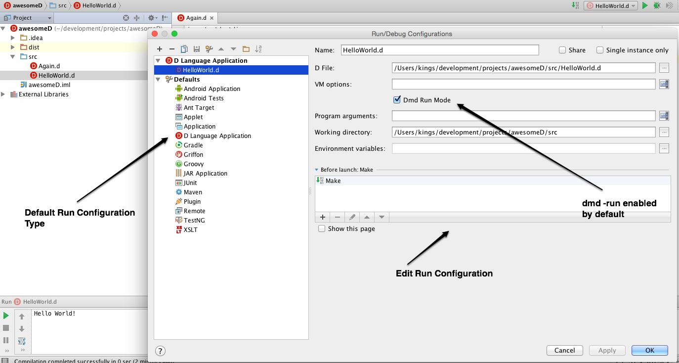 run configuration edit