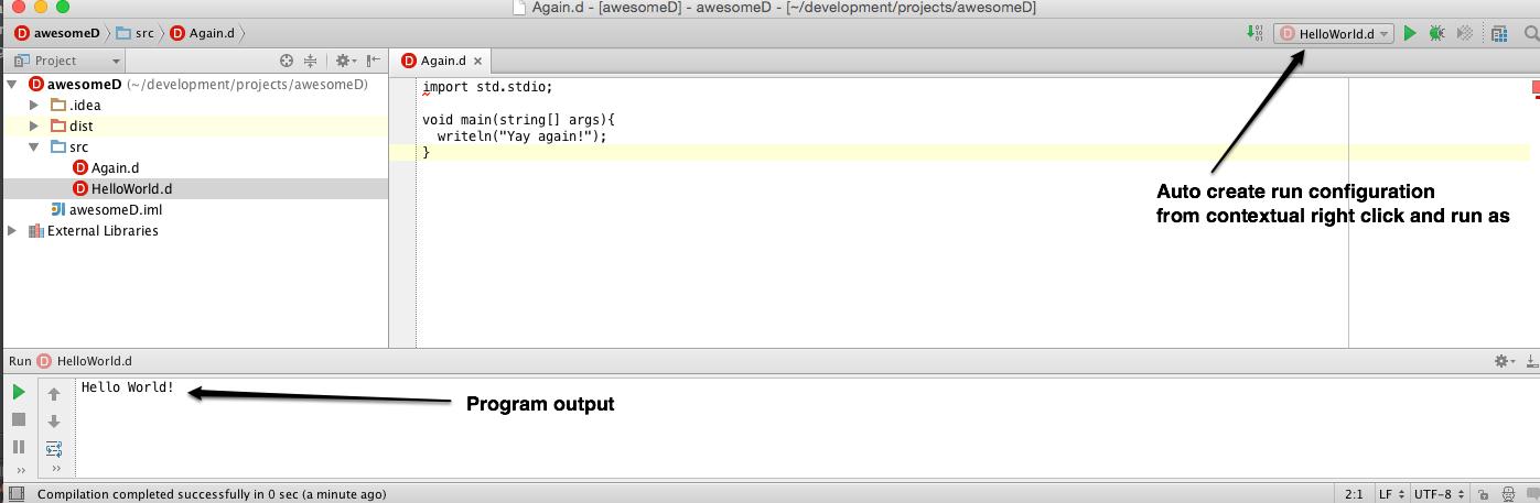 run configuration running