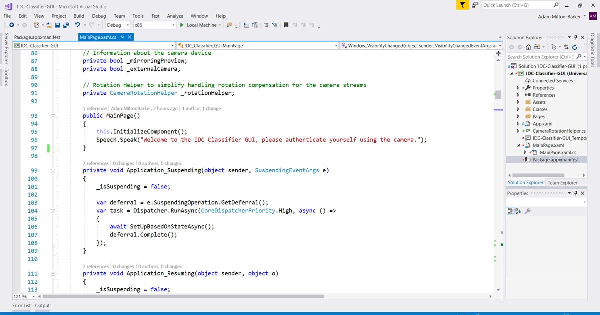 IDC Classifier Universal Windows Application